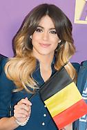 """Martina Stoessel alias Violetta de la série télévisée Disney lors de son passage en Belgique pour une série de concert.  <br /> Violetta ( Martina Stoessel ), lors du photocall de sa tournée """" Violetta Live 2015 """", à l'hôtel Amigo à Bruxelles.<br /> Belgique, Bruxelles, 12 mars 2015."""