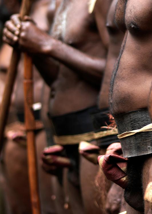 Vanuatu, Malampa Province, Ambrym Island, men wearing nambas