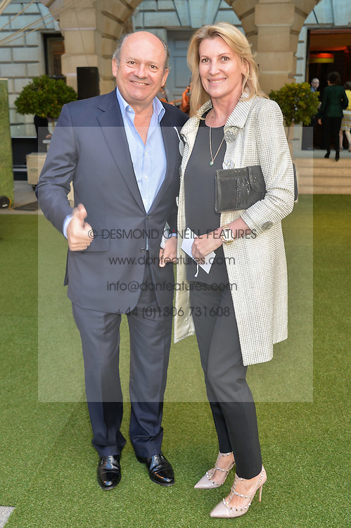 MICHAEL SPENCER and SARAH, MARCHIONESS OF MILFORD HAVEN at the annual Royal Academy of Art Summer Party held at Burlington House, Piccadilly, London on 4th June 2014.