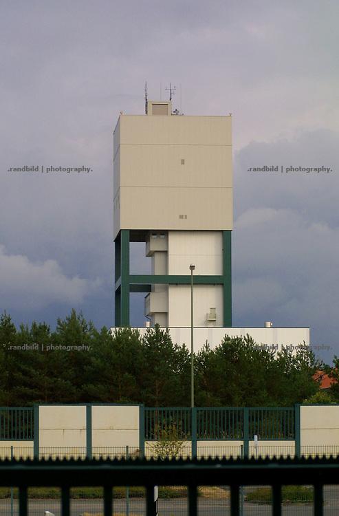 Schacht 1 des Salzstocks in Gorleben. Im Erkundungsbergwerk wird erforscht, ob sich die tiefen geologischen formationen als Endlagerstätte für hochradioaktiven Müll eignen.