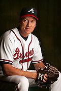 Portrait of Atlanta Braves player Tom Glavine during picture day at Disney's Wide World of Sports.