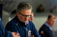 2020-01-22 | Kallinge, Sweden: Halmstad Hammers Head Coach Fredrik Johansson during the game between Krif hockey and Halmstad Hammers at Soft Center Arena (Photo by: Jonathan Persson | Swe Press Photo)<br /> <br /> Keywords: kallinge, Ishockey, Icehockey, hockeyettan, allettan södra, soft center arena, krif hockey, halmstad hammers (Match code: krhh200122)