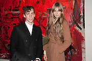 JOHNNY BORRELL; EDIE CAMPBELL, Private view of the exhibition ' Mother of Pouacrus' by Nicholas Pol. Presented by Vladimir Restoin Roitfeld. The Old Dairy, Wakefield St.  London. 14 October 2010. <br />