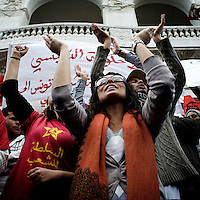 The Tunisian Revolution through the eyes of the women © Francesca Oggiano