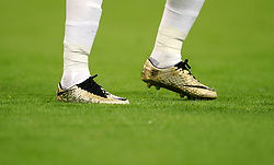Detail of Harry Kane's golden football boots