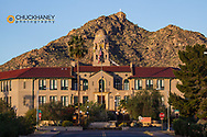 Historic Curley school building in Ajo, Arizona, USA