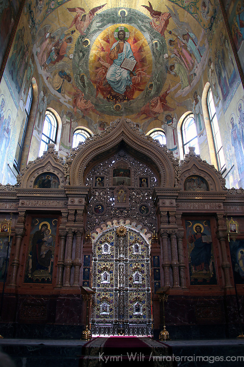 Europe, Russia, St. Petersburg. Church of the Spilled Blood Altar.