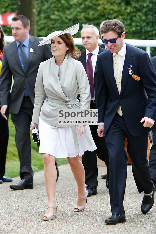 Princess Eugenie of York arrives at Goodwood Races 2015, Glorious Goodwood 30th July, Day 3. Chichester, West Sussex. (c) SAM TODD | SportPix.org.uk