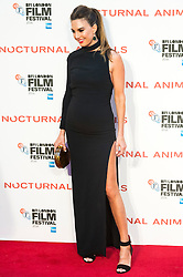 © Licensed to London News Pictures. 14/10/2016. Pregnant ELIZABETH CHAMBERS attends the Nocturnal Animals film premiere of as part of the London Film Festival. London, UK. Photo credit: Ray Tang/LNP