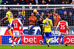 Francisco Casilla of Leeds United punches the ball clear - Mandatory by-line: Ryan Crockett/JMP - 26/01/2019 - FOOTBALL - Aesseal New York Stadium - Rotherham, England - Rotherham United v Leeds United - Sky Bet Championship