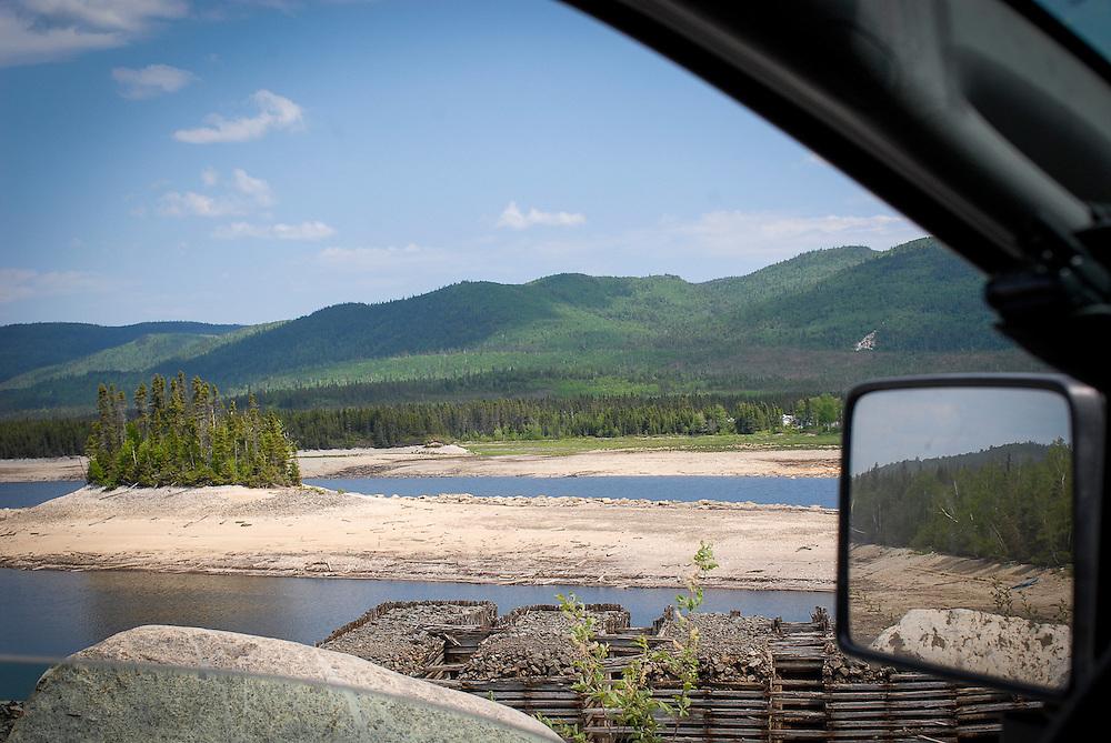 Paysage à 160 km au nord d'Alma, au Lac-Saint-Jean, dans le secteur du lac Froid.