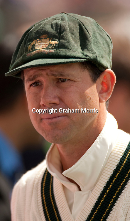 Captain Ricky Ponting after losing the second MCC Spirit of Cricket Test Match between Pakistan and Australia at Headingley, Leeds.  Photo: Graham Morris (Tel: +44(0)20 8969 4192 Email: sales@cricketpix.com) 24/07/10