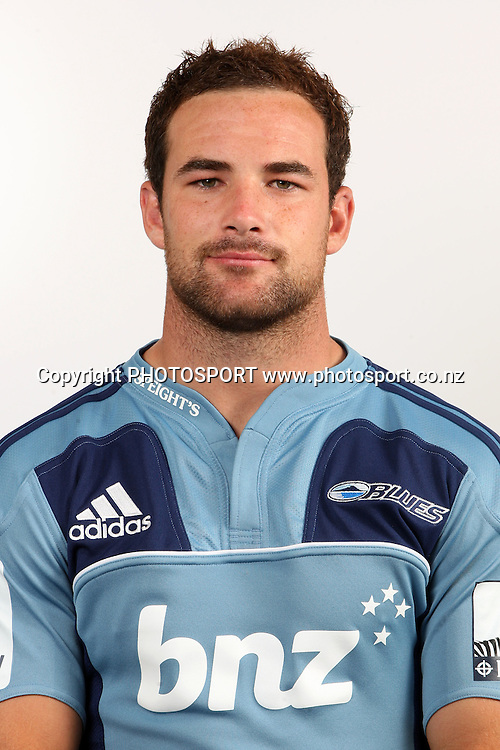 Alby Mathewson. Blues Headshots, Investec Super Rugby, Auckland, 7 February 2011. Photo: William Booth/photosport.co.nz