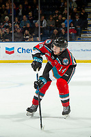 KELOWNA, BC - NOVEMBER 1: Elias Carmichael #14 of the Kelowna Rockets yells for the pass against the Prince George Cougars at Prospera Place on November 1, 2019 in Kelowna, Canada. (Photo by Marissa Baecker/Shoot the Breeze)