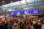 Vienna's new Hauptbahnhof (Main Railway Station) opening days.