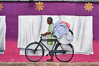 Singapour, le quartier de Little India, peinture murale // Singapore, Little India district, wall painting