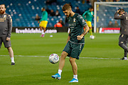 Leeds United midfielder Mateusz Klich (43) warming up  during the EFL Sky Bet Championship match between Leeds United and West Bromwich Albion at Elland Road, Leeds, England on 1 October 2019.