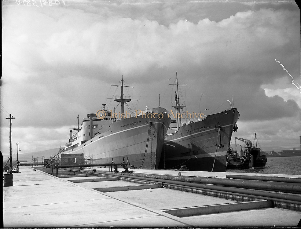 Irish Pine and Irish Cedar Ships at Alexandra Basin.12/05/1958