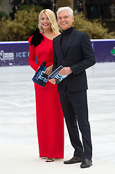 © Licensed to London News Pictures. 18/12/2018. London, UK. Holly Willoughby and Holly Willoughby attend a photocall for the launch of ITV's Dancing On Ice new series. Photo credit: Ray Tang/LNP