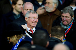 Ex Man Utd Manager Sir Slex Ferguson takes his seat in the stands before the match - Photo mandatory by-line: Rogan Thomson/JMP - Tel: Mobile: 07966 386802 - 24/11/2013 - SPORT - FOOTBALL - Cardiff City Stadium - Cardiff City v Manchester United - Barclays Premier League.