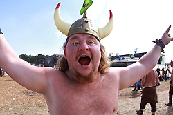 07.08.2010, Wacken Open Air 2010, Wacken, GER, 3.Tag beim 21.Heavy Metal Festival Fan mit Wikingerhelm, EXPA Pictures © 2010, PhotoCredit: EXPA/ nph/  Kohring+++++ ATTENTION - OUT OF GER +++++ / SPORTIDA PHOTO AGENCY