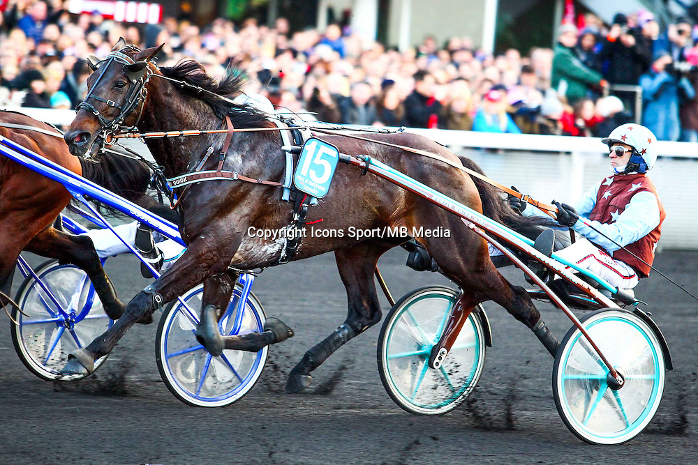 Jean Michel BAZIRE - UP AND QUICK - 25.01.2015 - Prix d'Amerique Opodo 2015<br /> Photo : Dyga / Icon Sport *** Local Caption ***