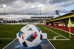 Offical ball before football match between NK Domzale and ND Gorica in 24th Round of Prva liga Telekom Slovenije 2015/16, on March 6, 2016 in Sports park Domzale, Domzale, Slovenia. Photo by Urban Urbanc / Sportida