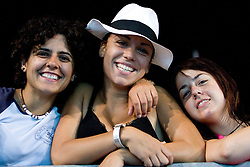 Women watching the game during the Men's  Waterpolo Final match between National teams of Serbia and Spain during the 13th FINA World Championships Roma 2009, on August 1, 2009, at the Stadio del Nuoto,  in Foro Italico, Rome, Italy. Serbia won after penalties shootout 14:13.  (Photo by Vid Ponikvar / Sportida)