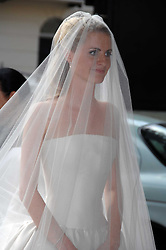 The bride CHLOE DELEVINGNE at the wedding of Chloe Delevingne to Louis Buckworth at St.Paul's Knightsbridge, London on 7th September 2007.<br /><br />NON EXCLUSIVE - WORLD RIGHTS