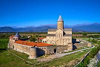Georgie, Caucase, région de Kakheti, environ de Telavi, monastère orthodoxe Alaverdi, vue aerienne // Georgia, Caucasus, Kakheti region, Alaverdi monastery, aerial view