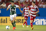 FRISCO, TX - JUNE 26:  Diego Valeri #8 of the Portland Timbers brings the ball up the field against FC Dallas on June 26, 2013 at FC Dallas Stadium in Frisco, Texas.  (Photo by Cooper Neill/Getty Images) *** Local Caption *** Diego Valeri