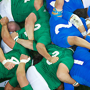 during the Ireland V Italy Pool C match during the IRB Rugby World Cup tournament. Otago Stadium, Dunedin, New Zealand, 2nd October 2011. Photo Tim Clayton...