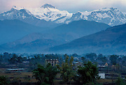 Annapurna range of the Himalayas from Pokhara in Nepal
