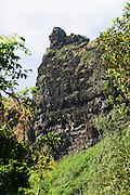 Crouching lion rock formation on the windward side of Oahu, Hawaii.