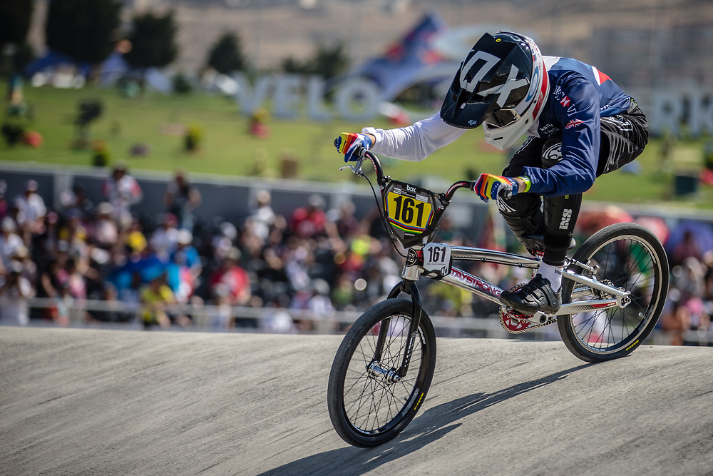 15 Boys #161 (HARTWELL Chad) GBR at the 2018 UCI BMX World Championships in Baku, Azerbaijan.