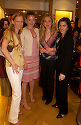 Ava Q, Joanna Jacovini, Daniela Biella and Monica Rizzini. Tod's hosts Book signing with Dante Ferretti celebrating the launch of 'Ferretti,- The art of production design' by Dante Ferretti. tod's, Old Bond St. 19 April 2005.  ONE TIME USE ONLY - DO NOT ARCHIVE  © Copyright Photograph by Dafydd Jones 66 Stockwell Park Rd. London SW9 0DA Tel 020 7733 0108 www.dafjones.com