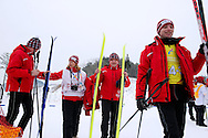 Polish athletes with intellectual disability after competition in Finals of Cross Country Relay 4 x 1000 meters Race during 2013 Special Olympics World Winter Games PyeongChang at Cross Country Skiing Venue on February 5, 2013...South Korea, PyeongChang, February 5, 2013..Picture also available in RAW (NEF) or TIFF format on special request...For editorial use only. Any commercial or promotional use requires permission...Photo by © Adam Nurkiewicz / Mediasport