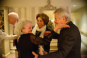 "Photo by Matt Roth.Assignment ID: 10137379A..Buffy and Bill Cafritz, Ann and Vernon Jordan, Vicki and Roger Sant threw an inaugural ""Bi-Partisan Celebration"" at the Dolley Madison Ballroom at the Madison Hotel in Washington, D.C. on Sunday, January 20, 2013."