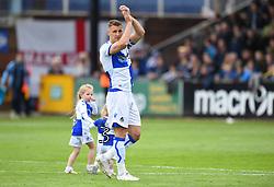 Lee Brown applauds supporters as he bids farewall to Bristol Rovers - Mandatory by-line: Paul Knight/JMP - 28/04/2018 - FOOTBALL - Memorial Stadium - Bristol, England - Bristol Rovers v Gillingham - Sky Bet League One