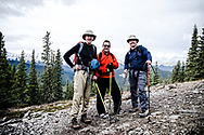 Good friends John, Randy and Garry join me for a hike up Prairie Mountain in the foothills west of Calgary, Alberta.