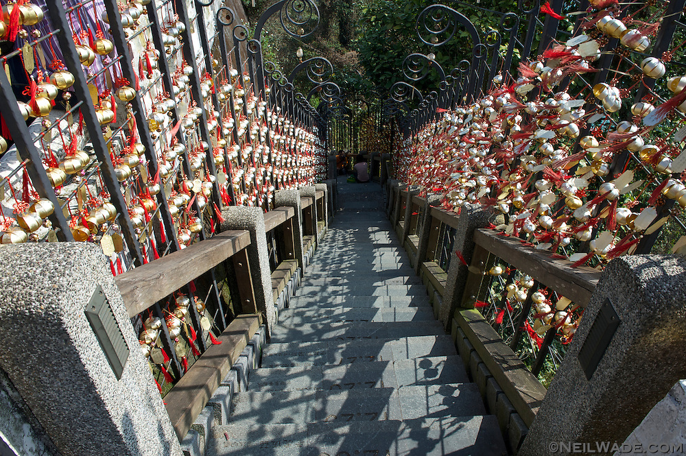 This stair well near the Wenwun Temple has 366 stairs for each day of the year.