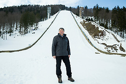 Jelko Gros during tour of  Flying hill's  reconstruction in Planica, on February 16, 2015 in Planica, Slovenia. Photo by Vid Ponikvar / Sportida