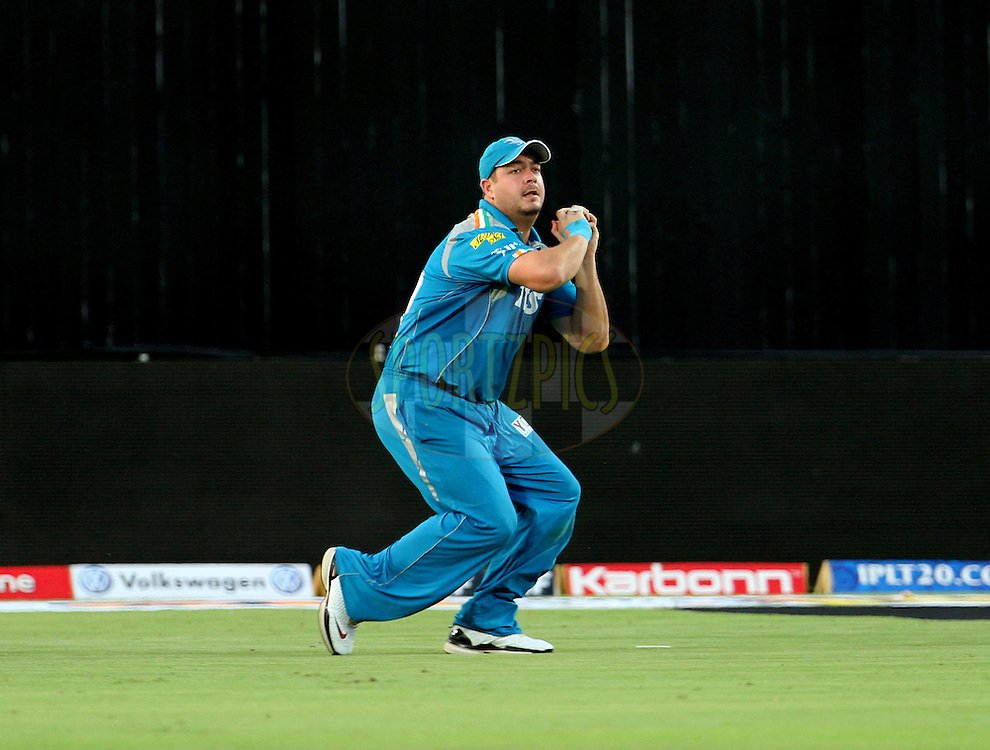 Pune Warriors player Jesse Ryder takes a catch during match 31 of the Indian Premier League ( IPL) 2012  between The Pune Warriors India and the Delhi Daredevils held at the Subrata Roy Sahara Stadium, Pune on the 24th April 2012..Photo by Vipin Pawar/IPL/SPORTZPICS