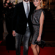 NLD/Amsterdam/20121112 - Beau Monde Awards 2012, kimberly Klaver en bas Schothorst