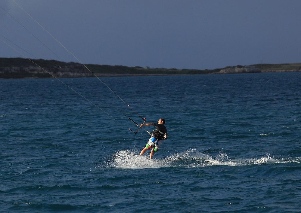 Kite surfing around the world.