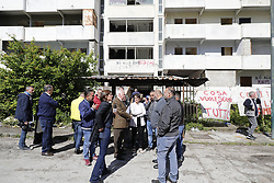 May 13, 2019 - Naples, campania - Italy, Naples 13 May 2919 after years of struggle in Scampia, a northern district of the Neapolitan city, begins the demolition of the famous sails, the place where the famous TV series Gomorrah was filmed where drugs and organized crime of the Camorra were sold. (Credit Image: © Fabio Sasso/ZUMA Wire)
