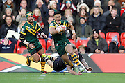 Australia's Valentine Holmes during the Ladbrokes Four Nations match between Australia and New Zealand at Anfield, Liverpool, England on 20 November 2016. Photo by Craig Galloway.