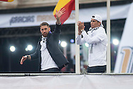 Real Madrid players celebrate winning the UEFA Champions League with an open top bus tour at Cibeles Square, Madrid<br /> Picture by EXPA Pictures/Focus Images Ltd 07814482222<br /> 29/05/2016<br /> ***UK &amp; IRELAND ONLY***<br /> EXPA-ESP-160529-0116.jpg