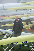 Boston, United Kingdom,  Coach, Paul THOMPSON checks the location of his athletes boats. GB Rowing Team October 5km Time Trial, on Sunday  01/11/2015  River Witham,  Lincolnshire <br /> <br /> [Mandatory Credit: Peter SPURRIER: Intersport Images]