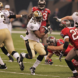 2008 September 7: New Orleans Saints running back Reggie Bush (25) in action against the Tampa Bay Buccaneers at the Louisiana Superdome in New Orleans, LA.